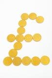 monet złota funta kształta szterling Obraz Royalty Free