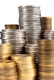 monet złota srebro Zdjęcia Stock