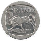 Moneta africana dei bordi Immagini Stock