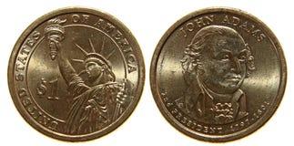 Moneta americana del dollaro Fotografia Stock Libera da Diritti