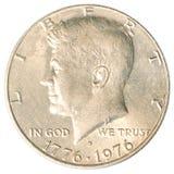 Moneta americana del mezzo dollaro Fotografia Stock Libera da Diritti
