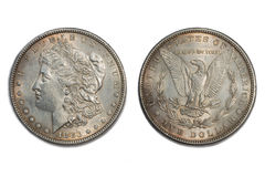 Moneta americana vecchio 1883 del dollaro Fotografia Stock Libera da Diritti