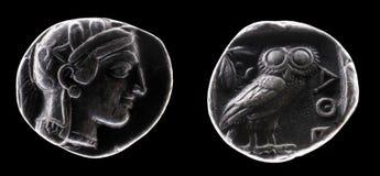 Moneta antica Fotografie Stock Libere da Diritti