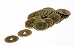 Moneta antica cinese Fotografia Stock Libera da Diritti