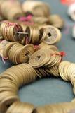 Moneta antica della Cina Fotografie Stock