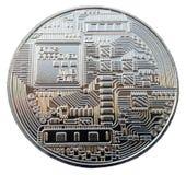 Moneta Bitcoin na białym tle Fotografia Royalty Free