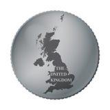 Moneta BRITANNICA Fotografia Stock Libera da Diritti
