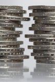 moneta broguje dwa Zdjęcia Stock