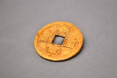 Moneta cinese antica Fotografia Stock Libera da Diritti