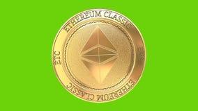 Moneta classica dorata di filatura di Ethereum ecc royalty illustrazione gratis