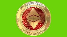 Moneta clssic dorata di filatura di Ethereum ecc illustrazione vettoriale