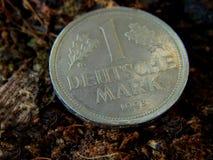 Moneta, contrassegno tedesco, dm Fotografia Stock Libera da Diritti