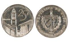 Moneta cubana Fotografia Stock Libera da Diritti