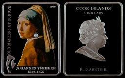 Moneta d'argento Fotografie Stock Libere da Diritti