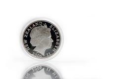 Moneta d'argento Fotografia Stock Libera da Diritti