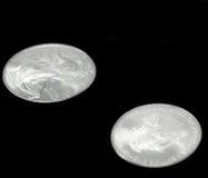 Moneta d'argento americana del dollaro dell'aquila Fotografie Stock