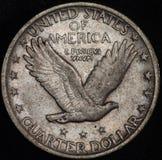 Moneta d'argento americana del dollaro quarto Immagini Stock