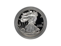 Moneta d'argento dell'aquila Immagini Stock