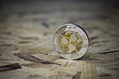 Moneta d'argento dell'ondulazione immagini stock libere da diritti