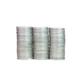 Moneta d'argento della pila, successo Fotografie Stock Libere da Diritti