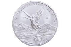 Moneta d'argento messicana del libertad Fotografie Stock Libere da Diritti