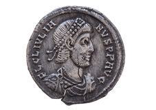 Moneta d'argento romana Immagini Stock
