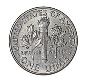 Moneta da dieci centesimi di dollaro americana Immagine Stock