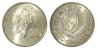 Moneta dei centesimi del Cipro Fotografia Stock Libera da Diritti
