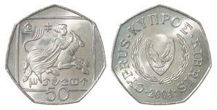 Moneta dei centesimi del Cipro Immagini Stock Libere da Diritti
