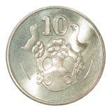 Moneta dei centesimi del Cipro Fotografia Stock