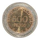 Moneta dei pesi della Colombia Fotografia Stock