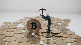 Moneta del bitcoin dell'oro