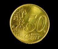 Moneta del centesimo dell'euro cinquanta fotografia stock libera da diritti