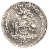 moneta del centesimo di 5 abitanti delle Bahamas Fotografie Stock Libere da Diritti