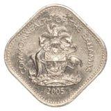 moneta del centesimo di 15 abitanti delle Bahamas Fotografia Stock