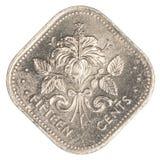 moneta del centesimo di 15 abitanti delle Bahamas Fotografia Stock Libera da Diritti