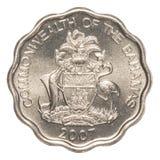 moneta del centesimo di 10 abitanti delle Bahamas Fotografie Stock