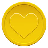 Moneta del cuore Immagine Stock Libera da Diritti