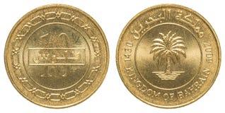 Moneta del dinaro di 10 abitanti del Bahrein Fotografia Stock