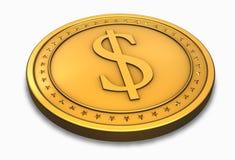 Moneta del dollaro Fotografia Stock