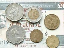 Moneta del dollaro di Hong Kong Fotografia Stock Libera da Diritti
