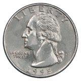 Moneta del dollaro quarto Immagine Stock Libera da Diritti