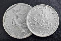 Moneta del franco Fotografia Stock Libera da Diritti