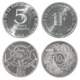 Moneta del franco di Burundi fotografie stock libere da diritti