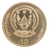 Moneta del franco di Ruanda Fotografia Stock