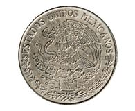 1 moneta del peso (circolazione di Estados Unidos Mexicanos) La Banca di Mexi Fotografia Stock
