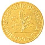 moneta del pfennig da 10 marchi tedeschi Fotografie Stock