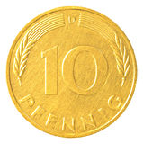 moneta del pfennig da 10 marchi tedeschi Fotografia Stock Libera da Diritti
