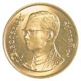 moneta del satang di baht tailandese 25 Fotografie Stock Libere da Diritti