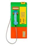 Moneta del telefono pubblico in Tailandia Immagine Stock